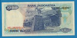 INDONESIA 1000 Rupiah  Serie BAZ Tjut Meutia1992/1995# HEL283951  P# 129d - Indonesië
