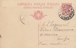 Mignano. 1919. Annullo Guller MIGNANO (CASERTA), Su Cartolina Postale - Storia Postale