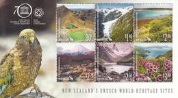 2015  New Zealand UNESCO World Heritage Geology Birds  Miniature Sheet Of 6 MNH @ BELOW FACE VALUE - Ongebruikt