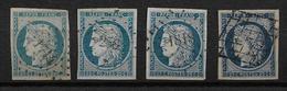 France N°4 Un Lot De Nuances Cote 270€ - 1849-1850 Cérès