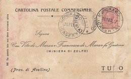 Mondragone. 1917. Annullo Guller MONDRAGONE (CASERTA), Su Cartolina Postale - Storia Postale