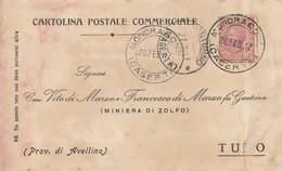 Mondragone. 1917. Annullo Guller MONDRAGONE (CASERTA), Su Cartolina Postale - 1900-44 Vittorio Emanuele III