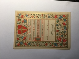 20F - Document Scolaire école Enseignement Carte D'honneur Collège ND De La Paix Namur Années 14-18 - Vieux Papiers