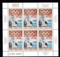 """Olympische Spelen 1968 , Sharjah """" Knor Fakkan """"  - Zegel In Vel  Postfris - Zomer 1968: Mexico-City"""