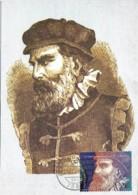 Portugal 2003 500 Anos Nascimento Pedro Nunes Matemático Inventor Do Nónio Alcácer Do Sal Maxicard Carte Maximum - Cartes-maximum (CM)