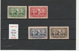 ALGERIE**LUXE N° 149/152 COTE 66.00 - Algeria (1924-1962)