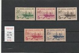 ALGERIE**LUXE N° 153/157 COTE 20.70 - Algérie (1924-1962)