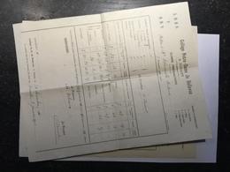 20F - Document Scolaire école Enseignement Bulletin Collège ND De Bellevue Dinant  1912 - Vieux Papiers