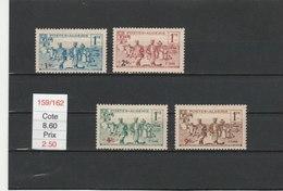 ALGERIE**LUXE N° 159/162 COTE 8.60 - Algérie (1924-1962)