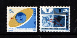 AUSTRALIA    1968   World  Weather  Watch    Set  Of  2    MH - 1966-79 Elizabeth II