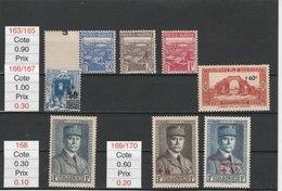 ALGERIE**LUXE N° 163/165.166/167.168.169/170 COTE 2.80 - Algérie (1924-1962)