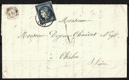 149 - FRANCE - 1849 -  FOLDED COVER - FORGERY, FAKE, FALSE, FALSCH - Briefmarken