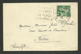 AISNE / Daguin De NOUVION EN THIERACHE / Enveloppe Juin 1940 - Poststempel (Briefe)
