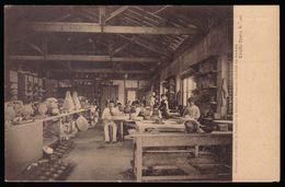 Postal Antigo:Officina Fabrica Faianças Bordallo Pinheiro CALDAS Da RAINHA. Edição Costa. Old Postcard 1900s PORTUGAL - Leiria