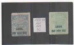BRESIL 1898-99 YT N° 101-102 Neufs Sans Gomme - Brésil