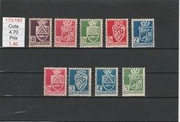 ALGERIE**LUXE N° 175/183 COTE 4.70 - Algérie (1924-1962)