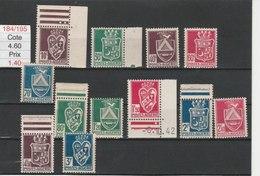 ALGERIE**LUXE N° 184/195 COTE 4.60 - Algérie (1924-1962)