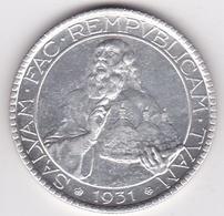 San Marino. 20 Lire 1931, En Argent, KM# 11 - Saint-Marin
