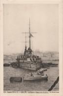 """H6- GUERRE 1914-15 - MALTE - """" LE DIDEROT """" FAISANT SON CHARBON - EDITION """" PAYS DE FRANCE """"  -  (2 SCANS) - Malte"""
