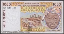 TWN - IVORY COAST (W.A.S.) 111Ak - 1000 1.000 Francs 2002 Signatures: Lallé & Banny AU/UNC - Elfenbeinküste (Côte D'Ivoire)