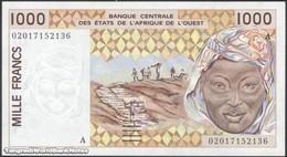 TWN - IVORY COAST (W.A.S.) 111Ak - 1000 1.000 Francs 2002 Signatures: Lallé & Banny UNC - Elfenbeinküste (Côte D'Ivoire)