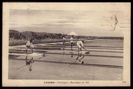 Postal Antigo: AVEIRO Marinhas De Sal. Animado. Ediçãi MARTINS & SILVA. Old Postcard PORTUGAL - Aveiro
