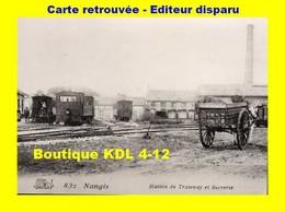 BVA 625-07 - Train En Gare Et La Sucrerie - NANGIS - Seine Et Marne - SE - Reproduction - Nangis
