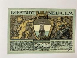 Allemagne Notgeld Neu Ulm 50 Pfennig - [ 3] 1918-1933 : République De Weimar