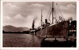 Cp Bougie Bejaia Algerien, Le Port, Hafenpartie, CGT Passagierschiff Ville De Bône - Bateaux