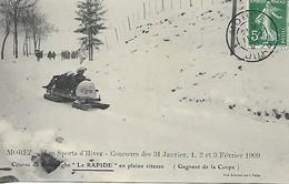 MOREZ  ¨SPORTS D'HIVER 1909  LE RAPIDE EN PLEINE VITESSE - Morez