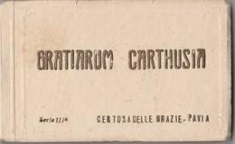 GRATIARUM  CARTHUSIA - CERTOSADELLE GRAZIE - PAVIA - SERIE IIIa - CARNET COMPLET DE 24 CPA - (3 SCANS) - Pavia
