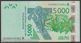 TWN - IVORY COAST (W.A.S.) 117Aa - 5000 5.000 Francs 2003 (2003) Signatures: Tignokpa & Banny UNC - Elfenbeinküste (Côte D'Ivoire)