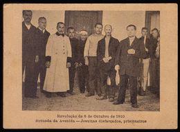 Postal Antigo: Revolução De 5 De Outubro 1910 JESUITAS DISFARÇADOS PRISIONEIROS Rotunda Avenida LISBOA Portugal - Lisboa