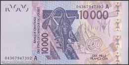 TWN - IVORY COAST 118Aa - 10000 10.000 Francs 2003 (2004) Signatures: Tignokpa & Banny UNC - Elfenbeinküste (Côte D'Ivoire)