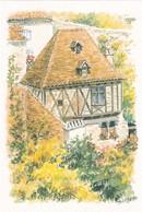46, Saint Cirq Lapopie, La Maison Vaillat, D'Après Aquarelle Originale D.Lebeau - Saint-Cirq-Lapopie