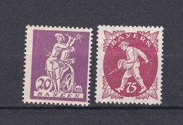Bayern - 1920 - Michel Nr. 181 III + 186 I - PF - Ungebr. - Bavaria