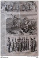 L'Inde, Les Amazones D'Haiderabad, Gardes Du Corps Du Harem Royal - Page Original 1866 - Historical Documents