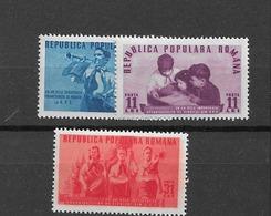 1950 MNH Romania Mi 1226-8 - 1948-.... Républiques