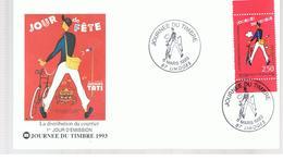 Enveloppe Et Timbre Du Premier Jour à 2;5 F JOUR DE FETE  Jacques TATI 06/03/1993 87 LIMOGES - Autres