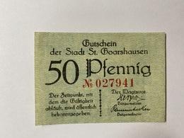 Allemagne Notgeld St Goarshausen 50 Pfennig - [ 3] 1918-1933 : République De Weimar