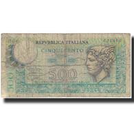 Billet, Italie, 500 Lire, KM:95, AB+ - [ 2] 1946-… : Repubblica