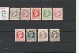 ALGERIE**LUXE N° 209/217 COTE 3.45 - Algérie (1924-1962)