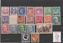 ALGERIE**LUXE N° 225/244COTE 14.40 - Algérie (1924-1962)