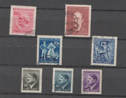 Deutsches Reich Lot 7 Timbres Bohême Et Moravie 1942 Mi 89 - 91 - 93 Hitler - 1943 Mi 129 - 130 Année 1944 Mi 135 139 - Boemia E Moravia