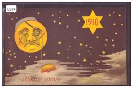 BONNE ANNEE - MILLESIME 1910 - LA LUNE PLEURE 1909 - TB - Nouvel An