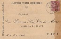 Marcianise. 1900. Annullo Grande Cerchio MARCIANISE (CASERTA), Su Cartolina Postale - 1878-00 Umberto I