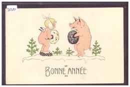 BONNE ANNEE - ENFANT - COCHON - B ( MINI PLI D'ANGLE ) - New Year