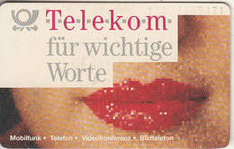 GERMANY(chip) - Telekom Für Wichtige Worte, Lips(A 17 D), Tirage 29000, 07/91, Used - A + AD-Series : Publicitarias De Telekom AG Alemania