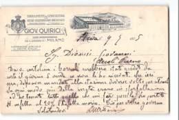 12833 MILANO QUIRICI SERICOLTURA OSSERVATORIO BACOLOGICO RIVAMAZZO - Marcophilie