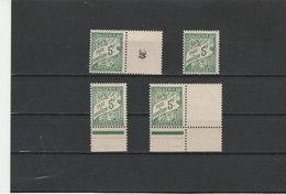 ALGERIE**LUXE TAXE N° 32 X 4 COTE 11.00 - Algeria (1924-1962)